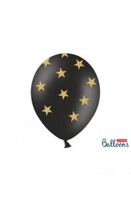 Balony urodzinowe 6 SZT. 30 CM W GWIAZDKI