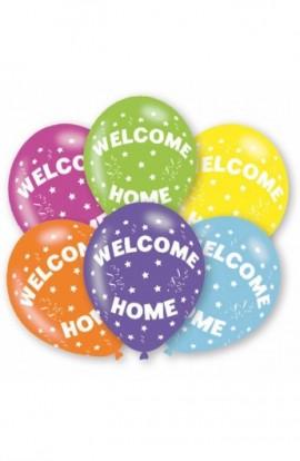 BALONY GUMOWE WELCOME HOME 6 SZT.