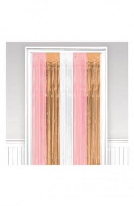 Dekoracja na drzwi różowo-złota