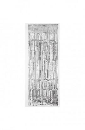 Dekoracja na drzwi srebrna