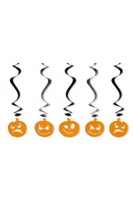 Dekoracja wisząca na Halloween - dynie