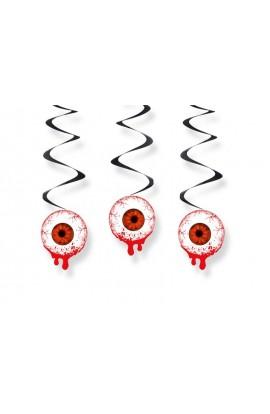 Dekoracja wisząca na Halloween - krwawe oko