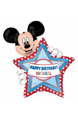 Balon foliowy urodzinowy spersonalizowany, z Mickey