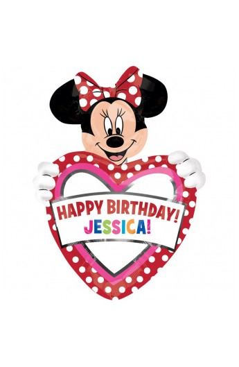 Balon foliowy urodzinowy spersonalizowany, z Minnie