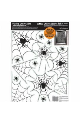 Dekoracja na okno - pajęczyna