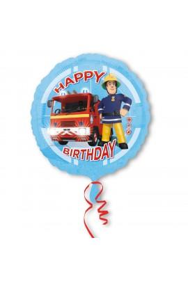"""Balon foliowy 18"""" Strażak Sam urodzinowy"""