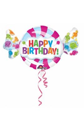 """Balon foliowy 24"""" Cukierek Happy Birthday"""