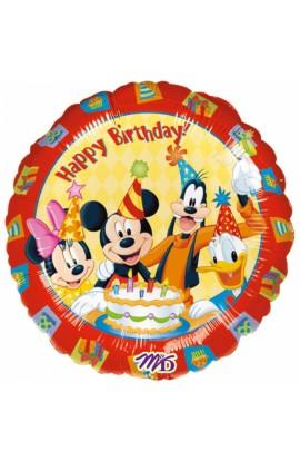 """Balon foliowy 18"""" Happy Birthday Mickey i Przyjaciele"""