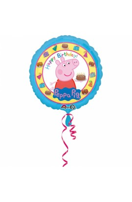 "Balon foliowy 18"" Świnka Peppa Happy Birthday"