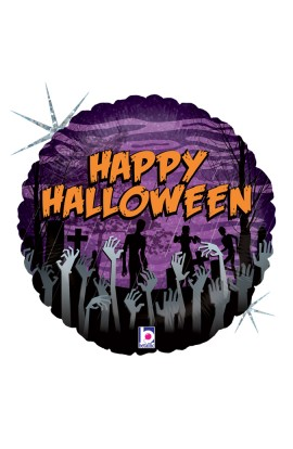 "BALON FOLIOWY 18"" HAPPY HALLOWEEN ZOMBIE"