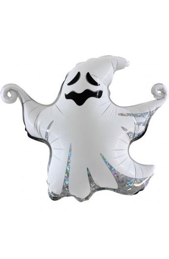 """Balon foliowy 17"""" holograficzny duch"""