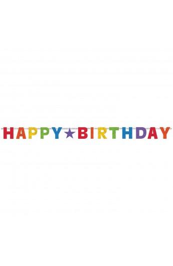 Girlanda Happy Birthday holograficzna