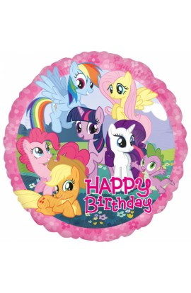 "Balon foliowy 18"" Happy Birthday Kucyki Pony"