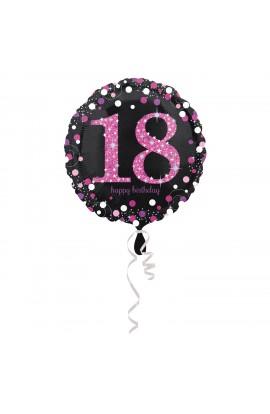 """Balon na 18 urodziny 18"""""""" cyfra"""