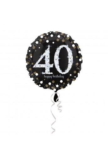 """Balon foliowy 18"""" na 40 urodziny"""