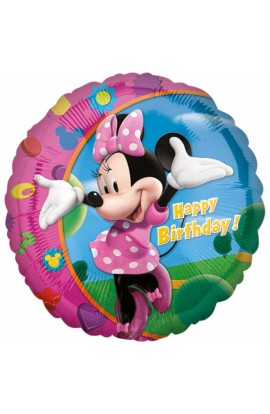 "BALON FOLIOWY 18"" MINNIE HAPPY BIRTHDAY"