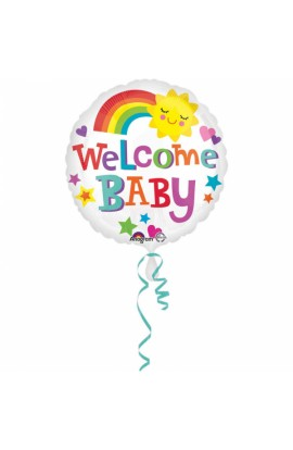 "BALON FOLIOWY 18"" WELCOME BABY"
