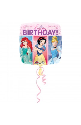 """Balon foliowy 18"""" Urodzinowe Księżniczki"""