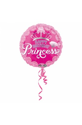 "Balon foliowy 18"" Happy Birthday Princess"