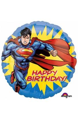 """BALON FOLIOWY 18"""" URODZINOWY SUPERMAN"""