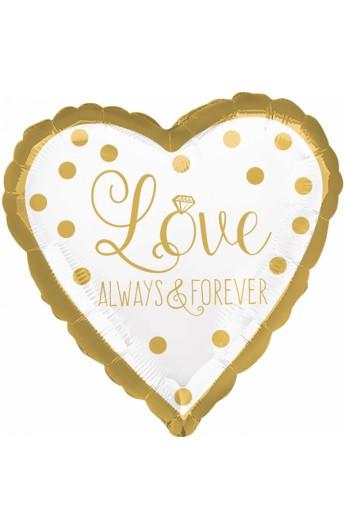 "Balon foliowy 18"" Love always&forever"