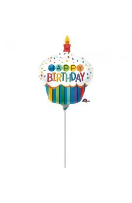 """Balon foliowy 14"""" Babeczka urodzinowa"""