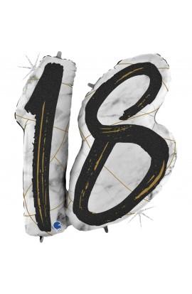 """Balon na 18 urodziny 43"""" 18 czarna"""