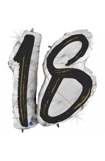 """Balon foliowy na 18 urodziny 43"""""""