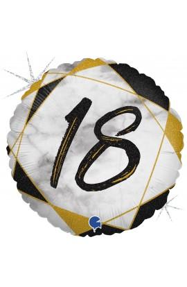 Balon na 18 urodziny foliowy 18