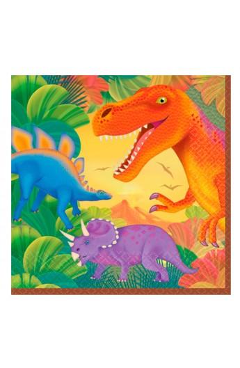 Serwetki Dinozaury duże