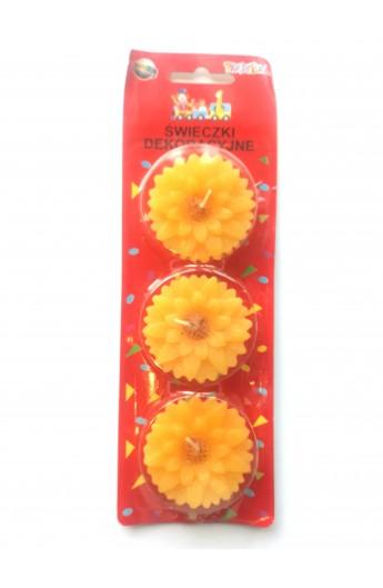 Świeczki kwiatki żółte