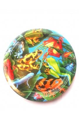 Talerze żaba duże