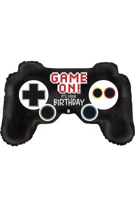 "BALON FOLIOWY 36"" GAME CONTROLLER BIRTHDAY"