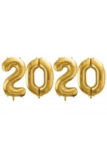 """Zestaw 4 balonów 40"""" 2020 złoty"""