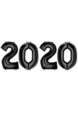 """Zestaw 4 balonów 40"""" 2020 czarny"""