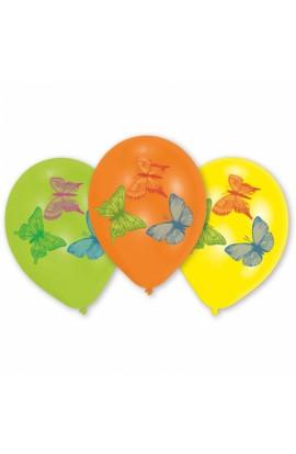 Balony gumowe z motylkami