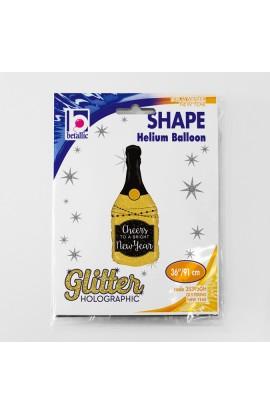 """Balon foliowy 36"""" holograficzny szampan"""