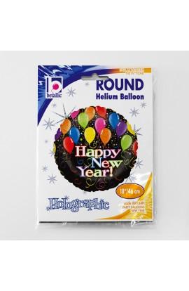 """Balon foliowy 18"""" Noworoczne party balonowe"""