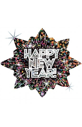 "Balon foliowy 32"" Gwiazda Happy New Year"