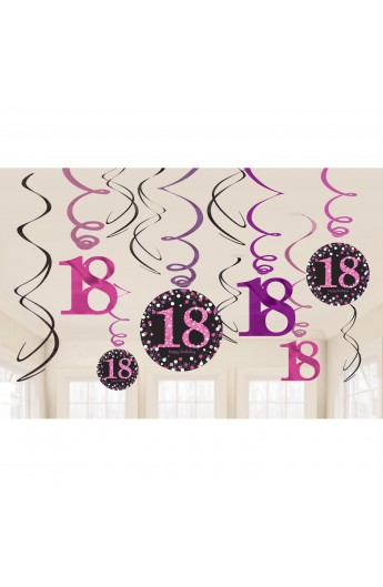 Spirale dekoracyjne na 18 urodziny