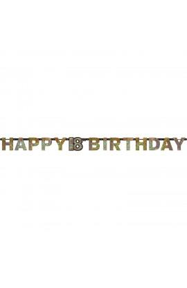 Girlanda Happy Birthday na 18 urodziny