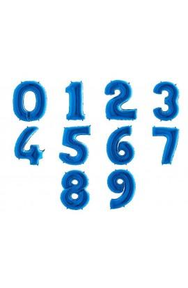 Cyferka niebieska 1 sztuka