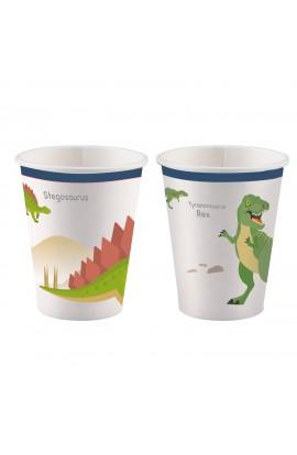 Kubeczki papierowe Dinozaury 8 szt.