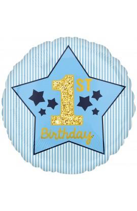 """Balon foliowy 18"""" pierwsze urodziny"""