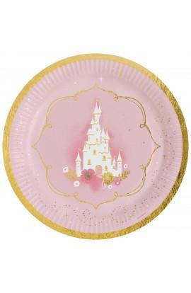 """Talerzyki papierowe """"Princess for a day"""" 8 szt."""