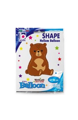"""Balon foliowy 34"""" zwierzęta leśne Niedźwiedź"""