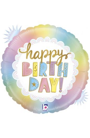 """Balon foliowy 18"""" opal Happy Birthday"""
