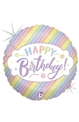 """Balon foliowy 18"""" pastelowy urodzinowy"""