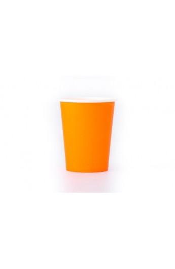 Kubek papierowy pomarańczowy