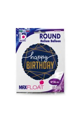 """Balon foliowy 18"""" granatowy urodzinowy"""